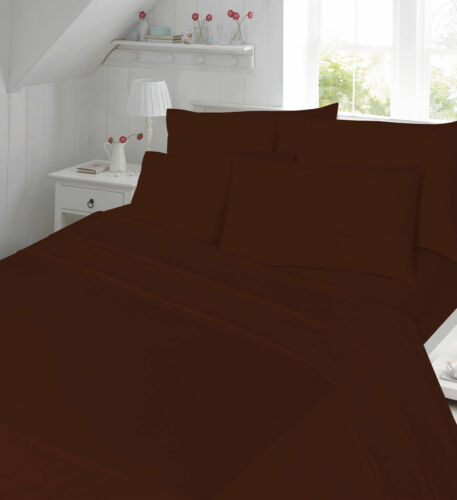 Luxury Plain Dyed  Flat sheets or Pillow case Single Double King Super King