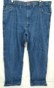 Wrangler-Men-039-s-Cowboy-Cut-Relaxed-Fit-Jeans-Blue-Denim-31MZWPW-48X34