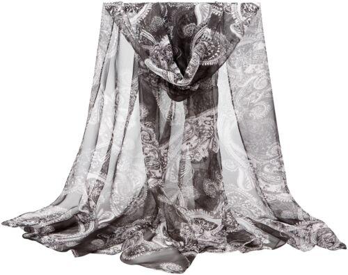 CJ Apparel Black Multi Colour Altai Design Voile Scarf Wrap Pashmina Seconds NEW