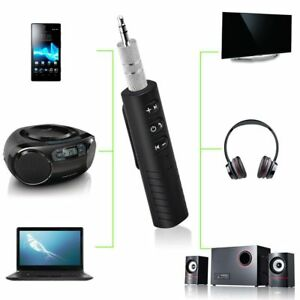 3.5mm Wireless Bluetooth AUX Audio Stereo Music Home Car Receiver Adapter Mic FY