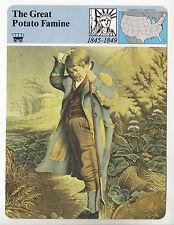 THE GREAT POTATO FAMINE Ireland History 1845-1849 Poverty STORY OF AMERICA CARD