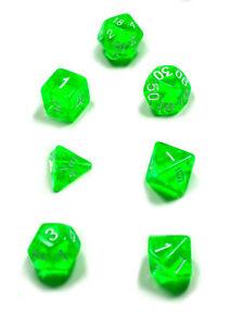 7er-Set-Sonderwuerfel-Zahlen-Transparent-Farbig-W4-W6-W8-W10-W12-W20-Seitig