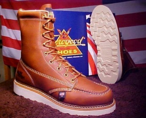 Thorogood Work Boots 814-4201 Wedge Bottom Iron Worker 8in Tall Moccasin Toe USA