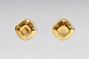 9907310 925er Silber Ohrstecker Ohrringe Citrin L1,5cm