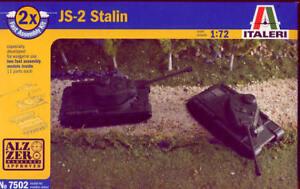 Complexé Italeri 1/72 Js-2 Staline 2 Kits Per Box # 7502-afficher Le Titre D'origine DernièRe Technologie