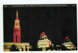 CA-California-1940-GG-Expo-post-card-A-13-Tower-of-Sun-amp-Elephant-Towers