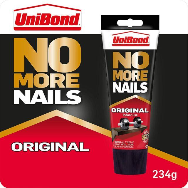 UniBond No More Nails Original, Heavy-Duty Mounting Adhesive, Strong Glue