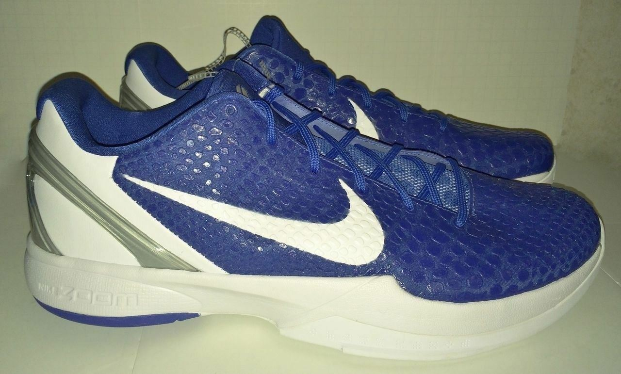 NIKE KOBE VI 6 Varsity Royal bluee White Basketball shoes Sneakers New Mens 17.5