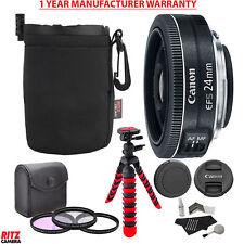 "Canon EF-S 24mm f/2.8 STM Lens + 12"" Flexible Tripod + Manufacturer Warranty"