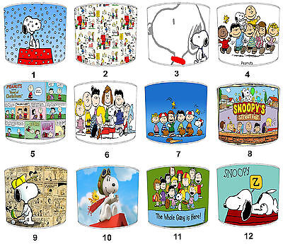 Peanuts & Snoopy Comic Lampshades, Ideal To Match Snoopy Bedding Sets & Duvets