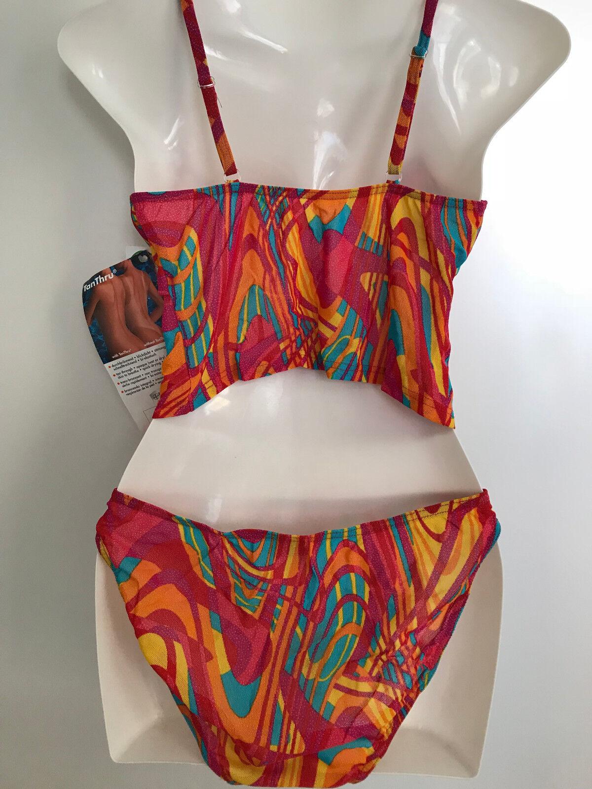 TanThru Bikini Durchbräunend Karibik Dschungel Tankini Tankini Tankini 38 B US 9 10 Solar Neu | Stabile Qualität  | Quality First  | Hervorragende Eigenschaften  | Helle Farben  | Erste Gruppe von Kunden  4299eb