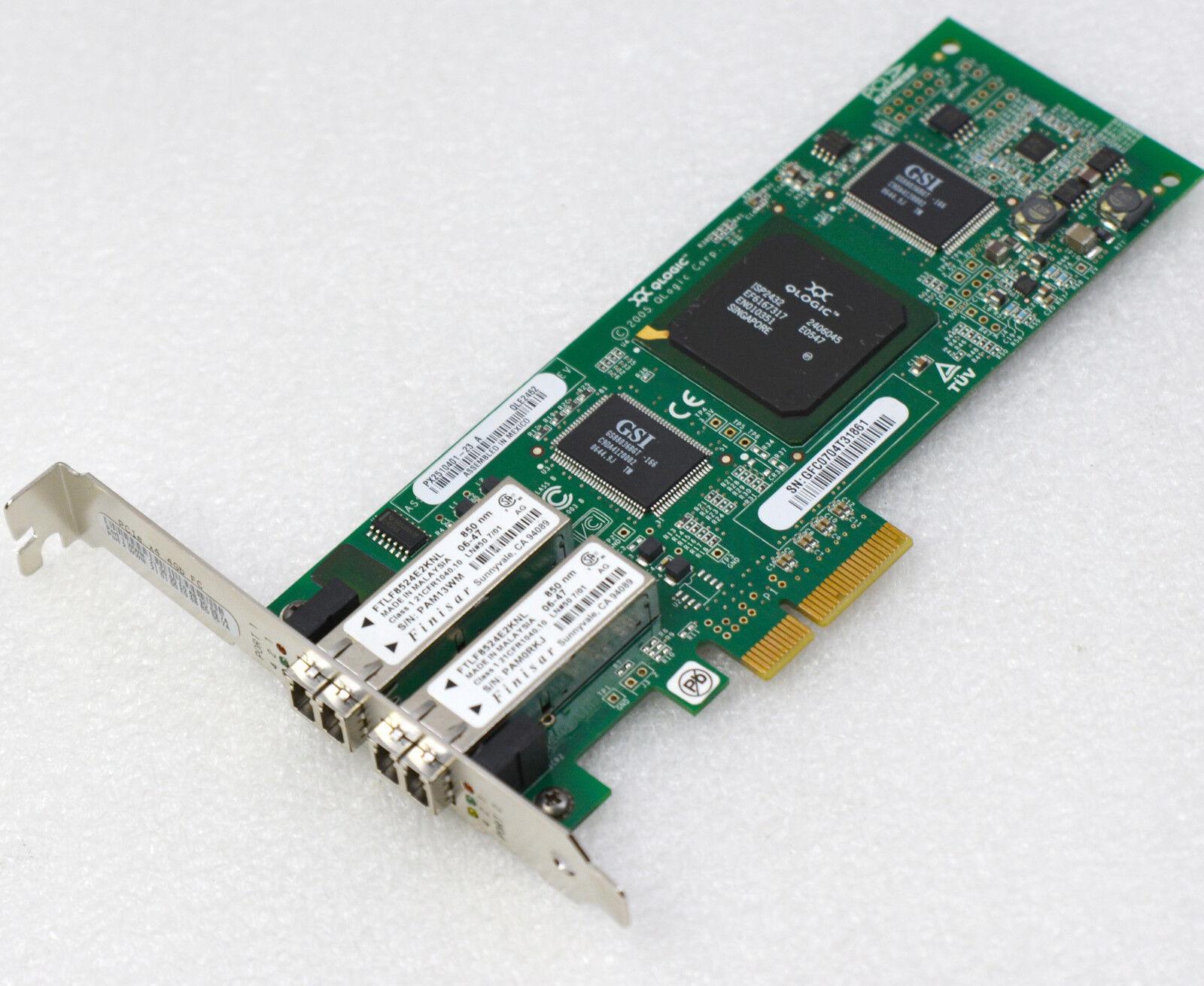 4GBit Dual Network Card Fibre Channel Pci-E 1x4xQLE2462IBM IBM 339R6528 #NW6 MM