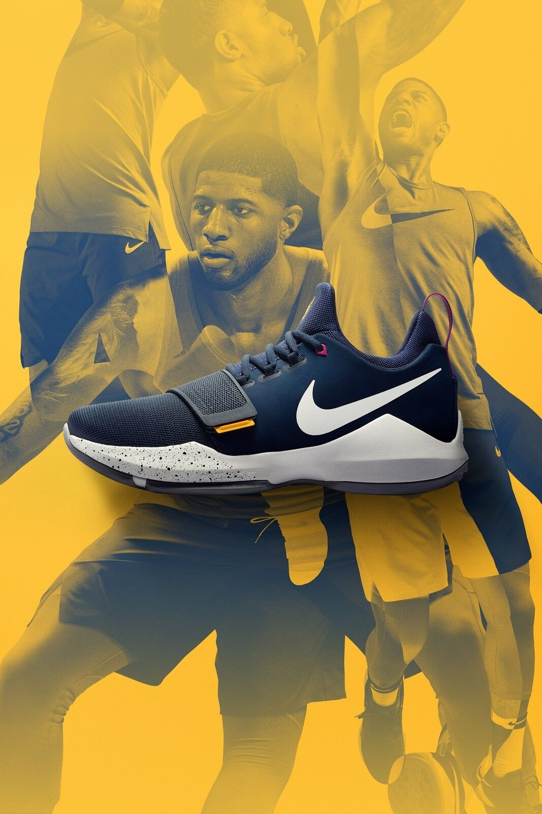 Buy Nike Paul George PG 1 Ferocity Obsidian Blue Navy Basketball ... 467823e7aac8