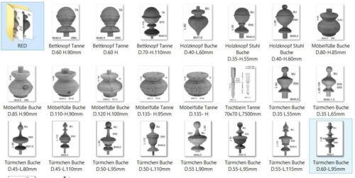 Holzknopf Türmchen Stuhl Buche Antiquitäten /& Kunst Restaurierungsbedarf