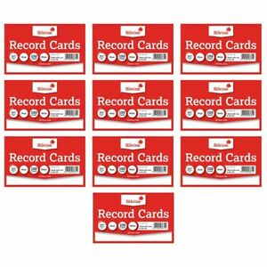 Revision-Flash-Index-Silvine-Record-Cards-White-Coloured-Plain-Ruled-Free-P-amp-P