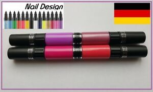 Nail-Art-Pen-Stift-Nagellack-4-Farben-Set-rosa-rot-lila