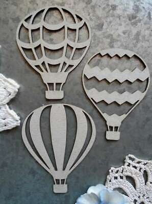 "2.5/""X2/"" Scrapaholics Laser Cut Chipboard 1.8mm Thick-Hot Air Balloon Set 3//Pkg"