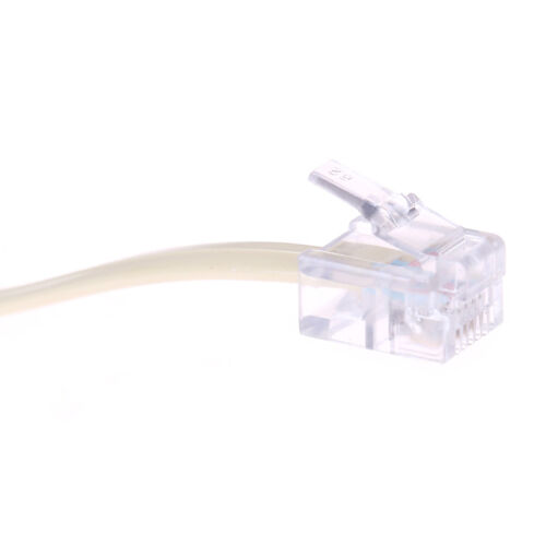 1Pc telephone RJ11 male line to double female jack filter splitter adapter BSCA