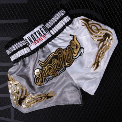 Muay Thai Boxing Shorts Kickboxing Fighting Polyester Sporting Shorts Men Women