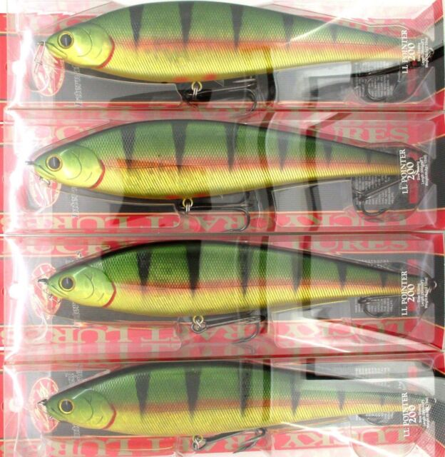 """4 Lucky Craft Made In JAPAN EPG LL Pointer 200 8/"""" Swimbaits Ghost Blue Gill"""