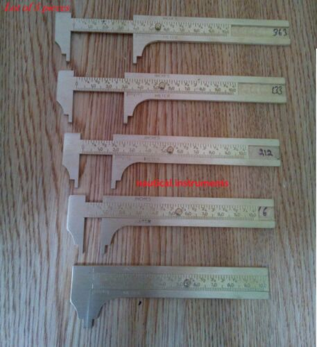 SOLID BRASS POCKET VERNIER CALIPER 4 INCH OR 100 MM SLIDING GAUGE