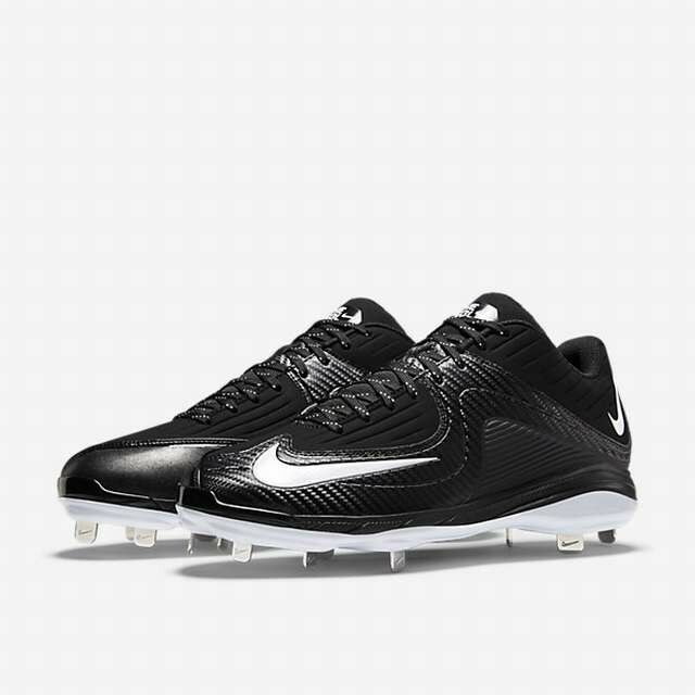 Nike Air MVP Pro Metal 2 Black White baseball cleat 684685-010