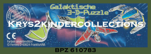 BPZ  kinder puzzle 3D Galactique Red Wing 610783 Allemagne 2002