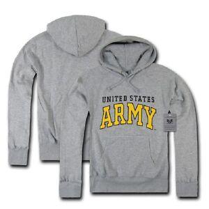 con Medium cappuccio grigio con Felpa Army cappuccio US militare Grau scuro grigio M Bw6qxdan
