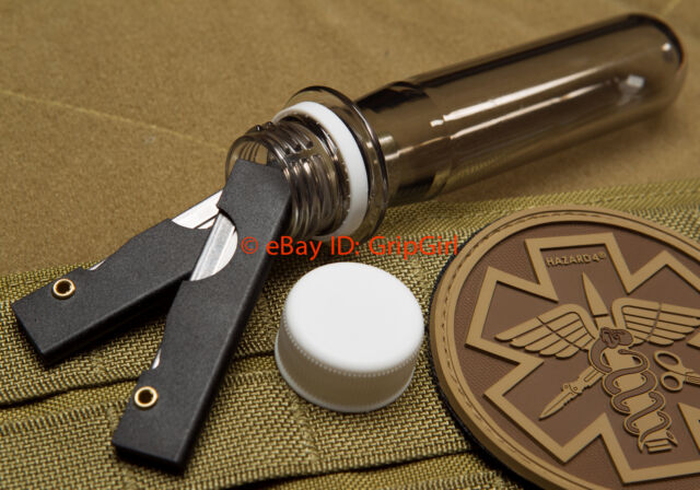 TSA Approved 2oz Waterproof Storage Vault Capsule Container EDC Survival Gear