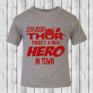 Step Aside Thor There/'s a New Hero Baby T-shirt Toddler T-shirt 100/% Cotton
