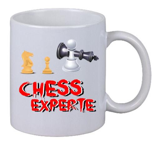 "Kaffee Tasse /""Chess Experte/"" Schach Pferd Königin Turm Play Game Freund Fun Gag"