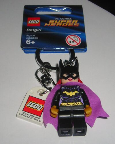 LEGO DC BATMAN BATGIRL ACTION FIGURE KEYCHAIN