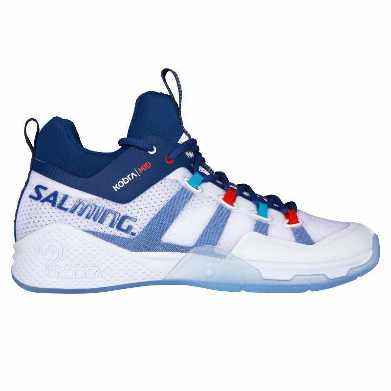 Salming Mens Kobra Mid 2 Indoor shoes 2018 (White bluee)