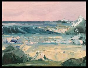 PALE-PINK-PACIFIC-Four-Original-Expression-Seascape-Oil-Painting-8x10-020519-KEN