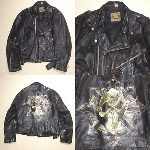 Image Is Loading Men S Vintage BLL Distressed Leather Jacket Like