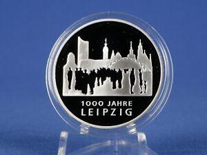 10 Euro Allemagne 2015 F, 1000 Ans De Leipzig, Argent 625 * Pp/proof (rfa - 74)-afficher Le Titre D'origine CoûT ModéRé
