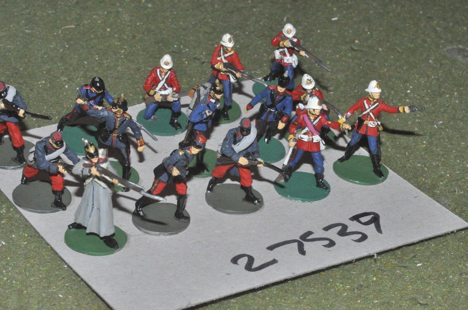 30mm colonial   generic - mixed 15 figures - inf (27539)