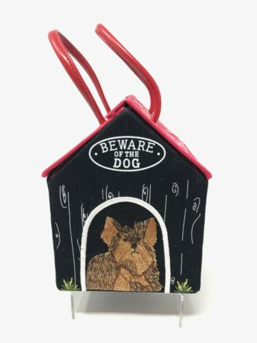 "RARE Lulu Guinness Bag Dog House Purse ""Beware of… - image 1"