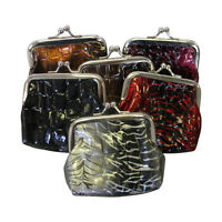 Coin Purse Crocodile Leather Look Bag Neat Kids Pocket Wallet Six Colors