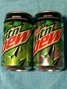 2019 - 2 FULL Cans MTN MOUNTAIN DEW and DIET CALL of DUTY - RIBBED from  HAWAII | eBay