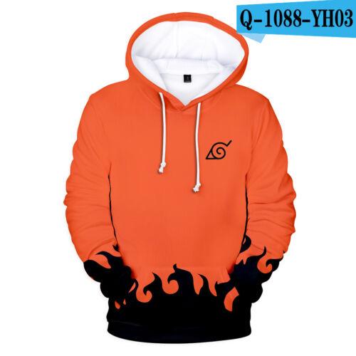 Naruto manga série Capuche Hoodie Sweat-shirt hip hop sport