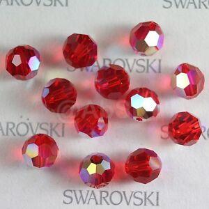 100 pcs Swarovski Element 5000 4mm Round Ball Beads Crystal Light Siam AB *SALE*