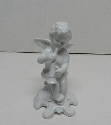 Set of 5 White Porcelain Cherubs//Angels Beautiful Collectible Angels