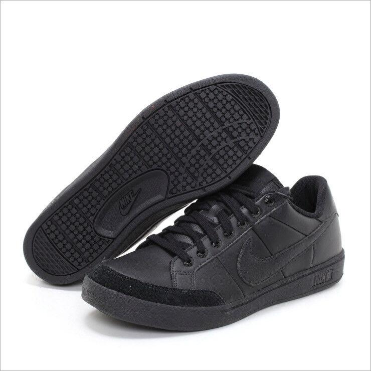 NIKE Court Official Neu Sneaker Leder Leather Premium Schwarz noir Gr:40,5