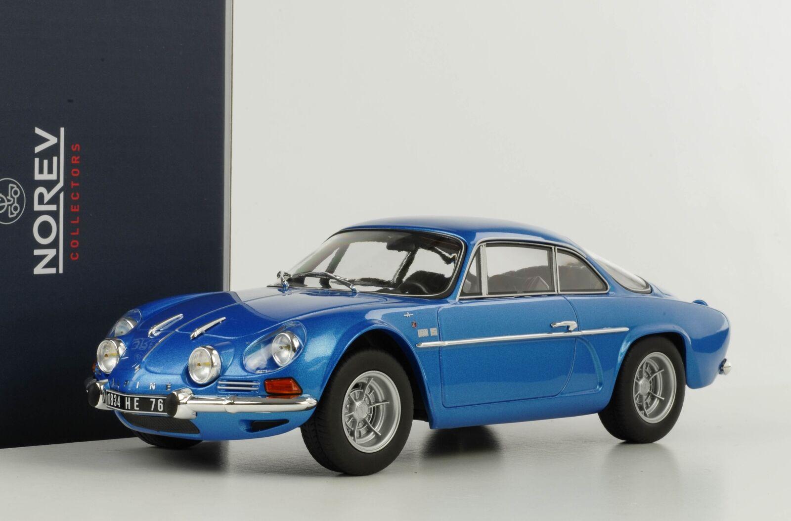 Renault Alpine 1600S 1600S 1600S A110 1971 Azul Metálico 1 18 Norev 185300 7df069