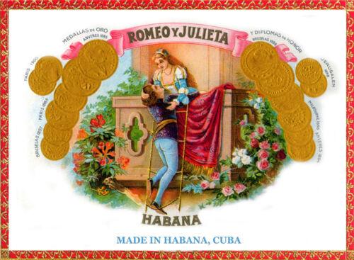 Decor POSTER.Home room Art.Romeo y Julieta from vintage Cuban Cigar label.6939
