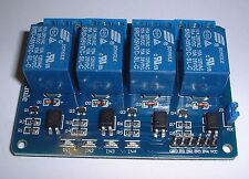 Quad (4) Relay board +cables for use with UNO/MEGA Rasberry pi  etc UK stock