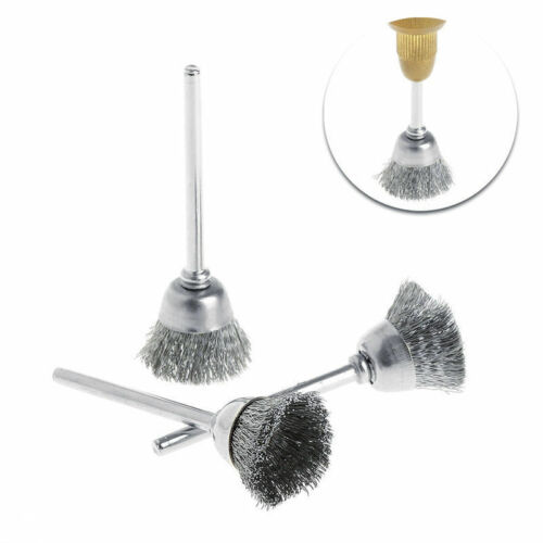 Metal Wire Wheel Brushes Grinder Rotary Electric Tool For Engraver Bowl//Flat//Pen