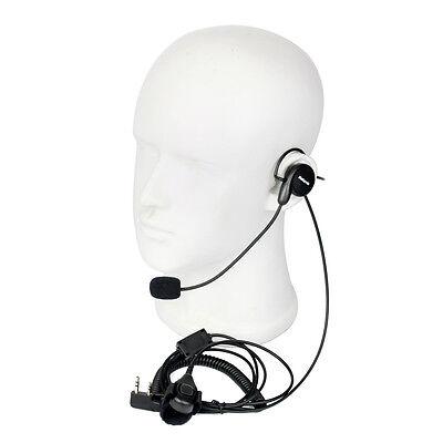 New 2 Pin Earpiece Mic Finger PTT Headset for Kenwood BAOFENG WOUXUN Retevis TOP