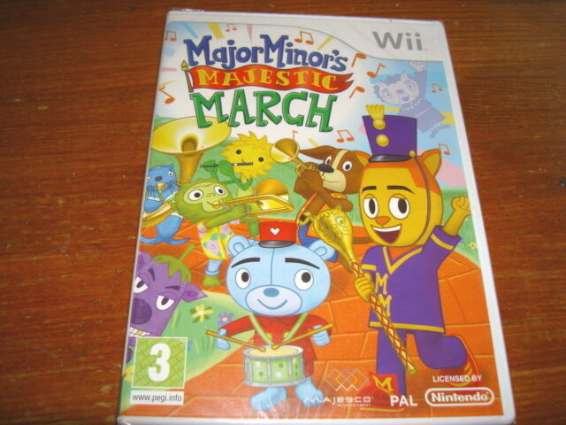 MAJOR MINOR'S MAJESTIC MARCH ** NEW & SEALED ** Nintendo Wii Game